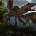 Deinonychus: another awesome render by Luca!