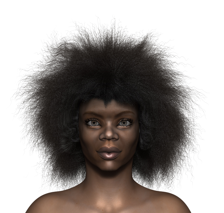 African Woman Hairlook At My Hair