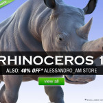 New pack of 3 Rhinoceros for DAZ Studio and Poser launches with 30% discount